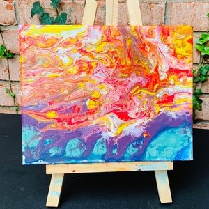 """""""Seventeen""""-Authentic Primal AcrylicPour Painting"""